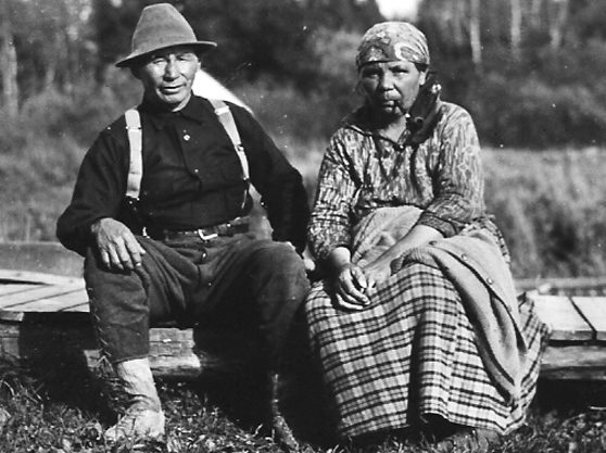 Charles Flamand and his wife Marie-Louise Cigwic-Iskwecic, July 9, 1940