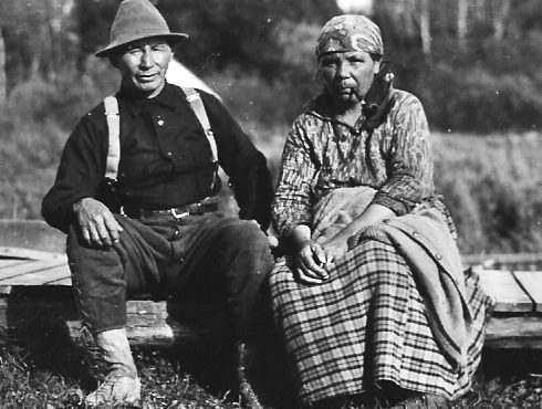 Charles Flamand et son épouse Marie-Louise Cigwic-Iskwecic, 9 juillet 1940